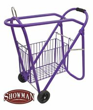 Rolling Travel Saddle Rack Stand Wheels Basket Western English Barrel PURPLE