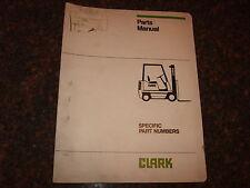 CLARK NP246 FORKLIFT LIFT TRUCK PARTS BOOK CATALOG MANUAL