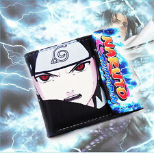 Anime Naruto Sasuke PU Wallet Purse Money Clip Card Holder Notecase Gift New Hot