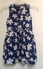Gap Kids Blue Hawaiian Print Floral Dress Size 6/7