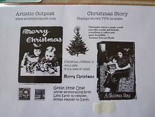Artistic Outpost Christmas Rubber Stamp Set, Christmas Story, vintage style New