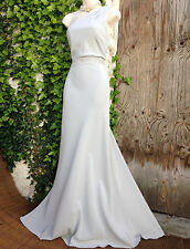 £179 Exquisite MONSOON *Oonagh* silver embellished one shoulder gown size 14
