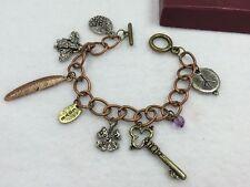 Retro Style Armband Armschmuck Kupfer Antik Glücksbringer Peace Verzierung
