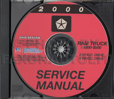 2000 Dodge Ram Truck Shop Manual CD 1500-3500 Pickup Gas Diesel Service Repair