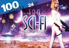 100 GREATEST SCI FI CLASSICS New Sealed 24 DVD Set 100 Movies SciFi