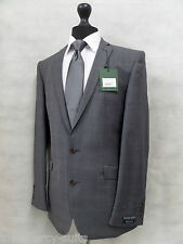Men's Tailored Fit Racing Green Grey Check Suit 40L W34 L32 MV8146