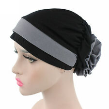 Muslim Stretch Turban Hat Cancer Chemo Cap Hair Loss Head Scarf Headwrap