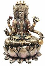 Hindu Lord Brahma Sitting on Lotus Statue Four Face Hindu Creator Prajapati