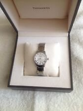 TIFFANY & CO. ATLAS DOME WATCH - NEW IN BOX WITH CERTIFICATE - AUTHENTIC