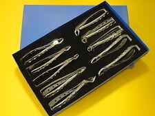 Lot de 10 extraction dentaire pinces premium extraction forceps set ref SET1