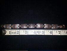 Vintage Copper Indian Theme Panel Link Bracelet 232530