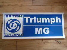 British Leyland TRIUMPH & MG Large Atelier AUTOCOLLANT Panneau De Garage