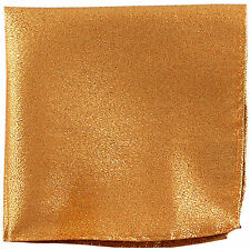 New Men's Polyester pocket square hankie only gold glitter formal prom wedding