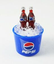 PEPSI BOTTLES IN ICE BUCKET FRIDGE MAGNET MINIATURE COLLECTIBLE DOLLHOUSE GIFT