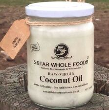 5 STAR WHOLEFOODS 1kg Pure Coconut Oil - Cold Pressed 100% food grade.