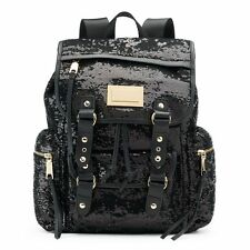 NWT Juicy Couture Black Sequined Backpack
