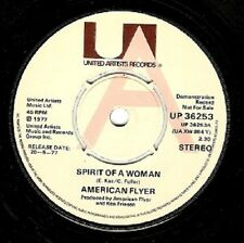 AMERICAN FLYER Spirit Of A Woman Vinyl 7 Inch United Artists UP 36253 1977 Demo