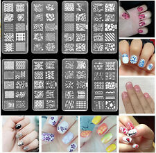 Stamping DIY Image Template Manicure Nail Art Stencil Plates Kit Set 10Designs