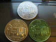 qty 3 donkey to tractor 1974 Mardi Gras Doubloon Coin new orleans