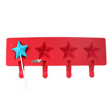 4 Holes Star Silicone Lollipop Popsicle Mould Ice Cream Mold Ice Molds DIY Tools