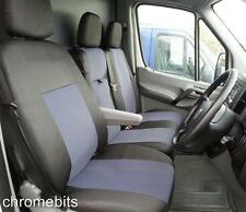 TAILORED GREY-BLACK FABRIC SEAT COVERS 2+1 FOR VOLKSWAGEN CRAFTER 2006+ RHD
