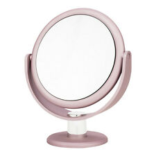 Blush Pink Metallic Soft Touch Vanity Mirror -  Makeup Magnifying Beauty Gift