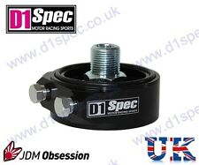 D1 SPEC OIL FILTER SANDWICH PLATE ADAPTER BLACK M20xP1.5 JDM DRIFT RACING