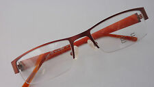Nylor Brillenfassung Herrenbrille unten randlos E+F kupfer Metallbrille Gr.M