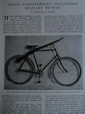 Major Baden Powell Collapsible Military Bicycle Lee Metford Rifle Article 1901