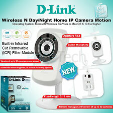D-Link DCS-932L/B Wireless N Day Night Home IP Camera Motion Detection UK Wi-Fi