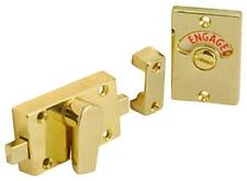 TOILET/ BATHROOM DOOR LOCK INDICATOR BOLT  BRASS PLATED