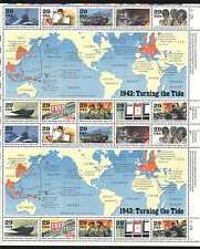 USA 1993 WWII/Planes/Ships/Military/Army/Nurse/Transport/Maps 20v sht (n25004)