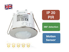 Modern 360  Recessed PIR Ceiling Occupancy Motion Sensor Detector Light Chrome