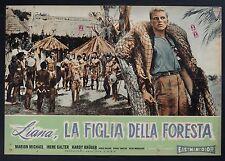 FOTOBUSTA, LIANA LA FIGLIA DELLA FORESTA Liane, das Mädchen aus dem Urwald RARA!