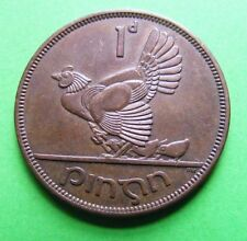 Ireland: 1963 Irish One Penny Coin - Excellent Example With Traces Of Luster