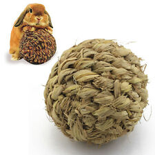 Pet Chew Play Toy Grass Ball with Bell for Rabbit Hamster Guinea Pig Rat 1pc