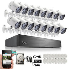 Funlux® 16 CH Channel PoE NVR 720P HD IP Security Surveillance Camera System 2TB