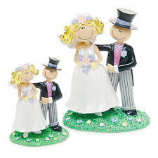 Caricature Style Bride and Groom Wedding Cake Topper Small