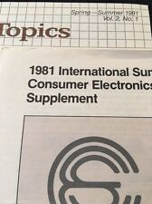 Technics Summer 1981 Handout Subjects DBX Cartridges SA-828 SU-V9 ST-S6 SL-DL1