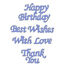 Sweet Dixie Die Birthday Sentiments Cut happy best wishes with love thank you