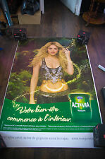 ACTIVIA SHAKIRA Giant 4x6 ft D/S Original French Food Advertising Poster 2014