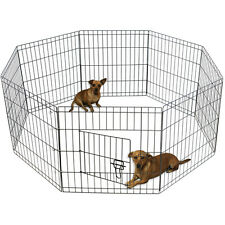 "OxGord 36"" Tall Wire Fence Pet Dog Folding Exercise Yard 8 Panel Metal Play-Pen"