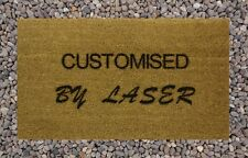 Personalised Engraved Coir Door Mat Your Text Here 40cm x 70cm Internal Coir