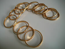 LOT 12PC  GOLD FINISH BABY BANGLE BRACELET BEAUTIFUL DESIGN SET SIZE # 1