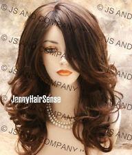 CURLY WAVY Beautiful Full Layered wavy wig Brown  wigs JSBD 6-30