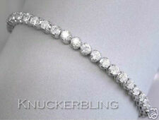 21.00 ct brillante taglio DIAMANTE TENNIS BRACELET 18ct Bianco Oro 0,72 CT solitaires