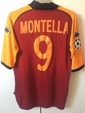 Maglia AS ROMA MONTELLA XL AUTOGRAFATA Champions League Kappa 2002 shirt trikot