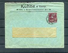 Ganzsache 10 Heller Fensterumschlag Kühne & Comp. - b3343