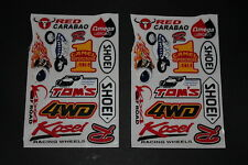 Aufkleber Sticker Decal Bapperl Kleber Set Michelin Shoei Omega Kasei Renthal #2