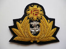 IRISH DEFENCE FORCE NAVAL OFFICERS CAP BADGE.
